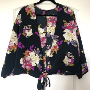 tie-front floral shirt from forever21